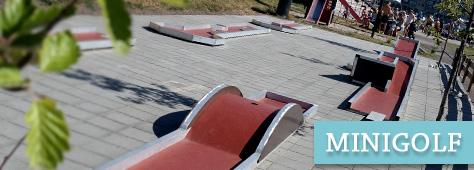 Minigolf på brygga i Tønsberg
